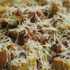 Pumpkin Bacon Bread Pudding