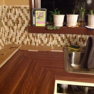DIY Vertical Backsplash Installation