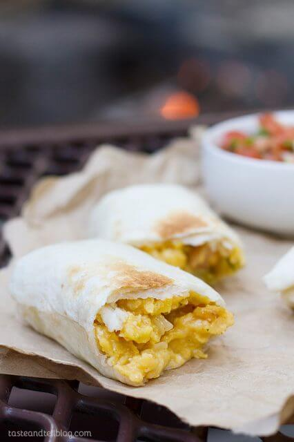 Breakfast Burritos Campfire Style, 101 stress free camping food