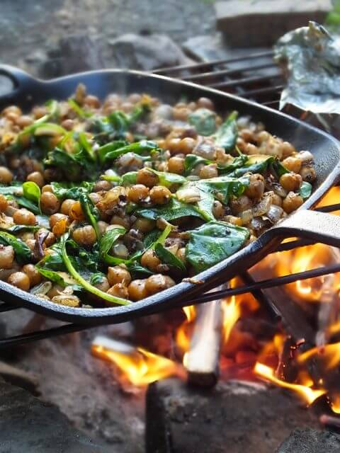 Middle Eastern Spiced Campfire Chickpeas, 101 Stress Free Camping Food Ideas