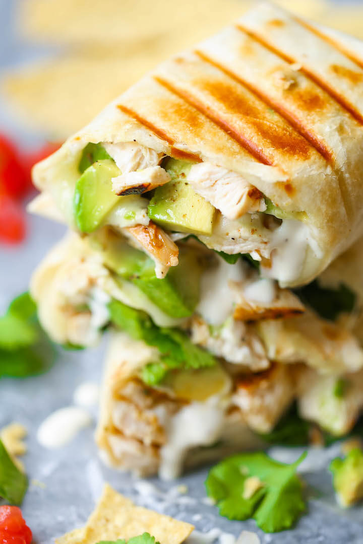 chicken avocado ranch burrito