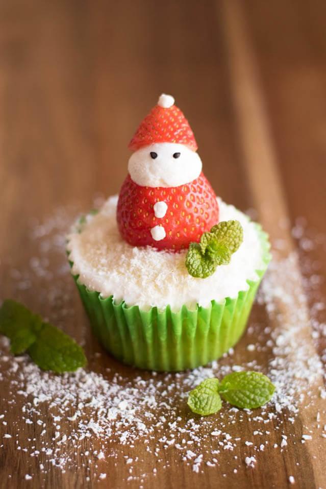 Santa cupcakes, Christmas party food ideas