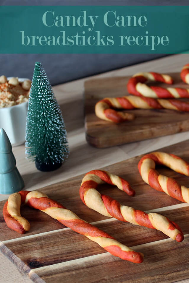 candy cane Christmas bread , Christmas party food ideas