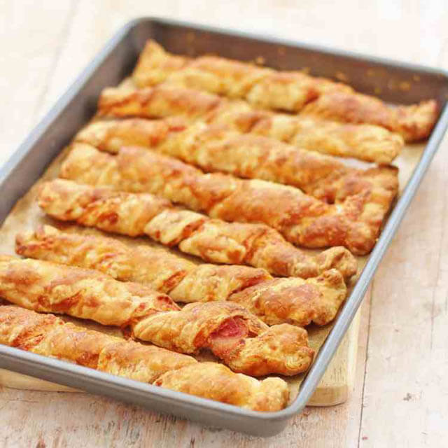 bacon cheese straws, Christmas party food ideas