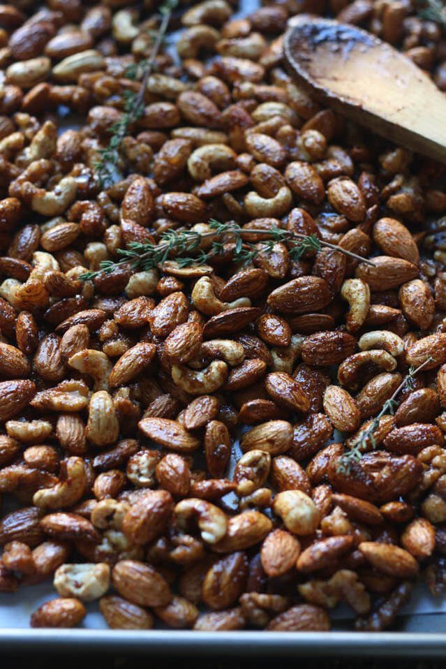 balsamic spiced mixed nuts, Christmas party food ideas