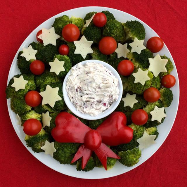 Christmas wreath, Christmas party food ideas