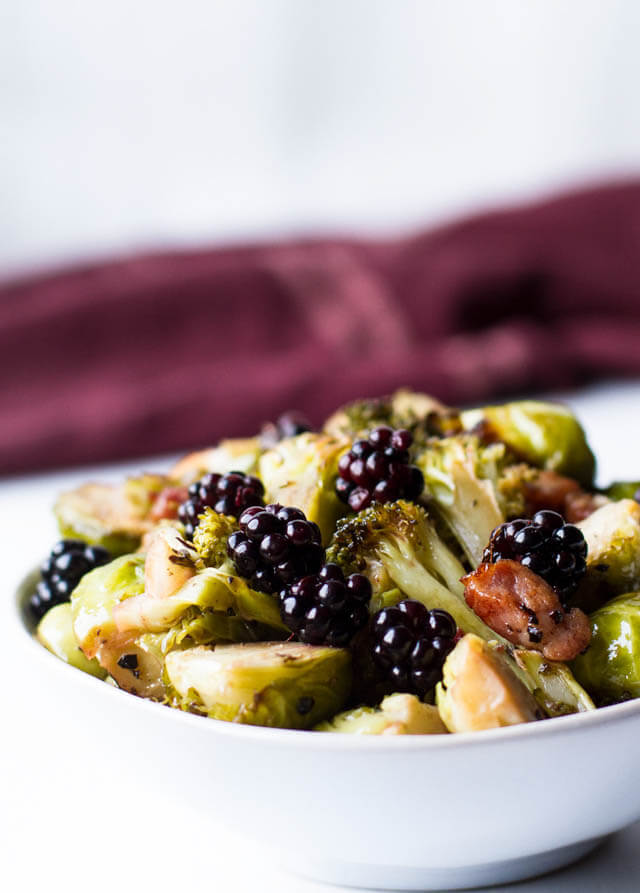 blackberry glazed brussels sprouts, Christmas party food ideas