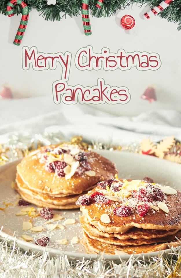 merry Christmas pancakes, Christmas party food ideas