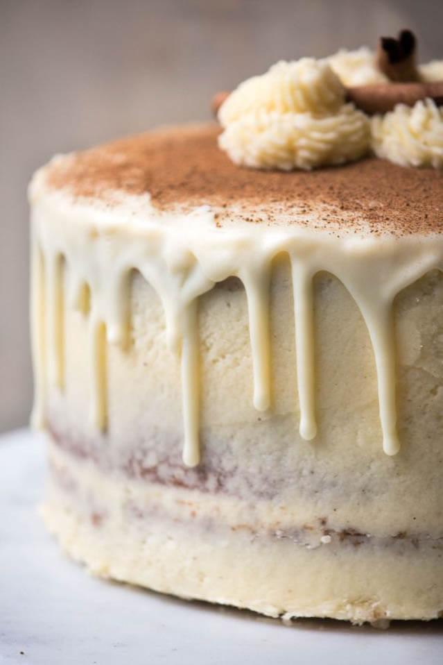 Christmas Spice cake with eggnog buttercream, Christmas party food ideas