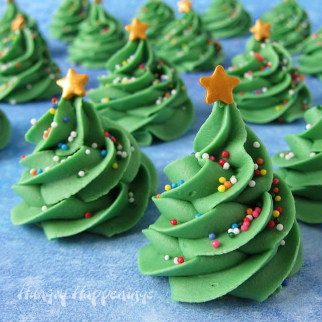 fudge Christmas Tress, Christmas party food ideas