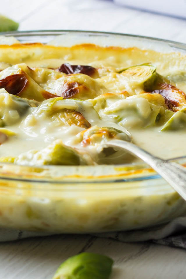 Christmas sprouts cheese sauce, Christmas Party Food Ideas