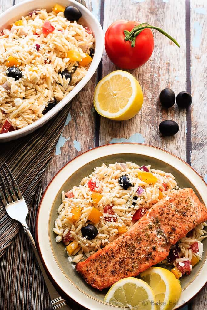 Crispy Salmon Orzo Recipe