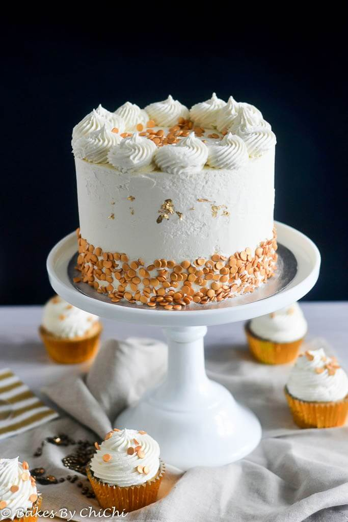 Champagne Cake and White Chocolate Buttercream, 101 New Years food Ideas