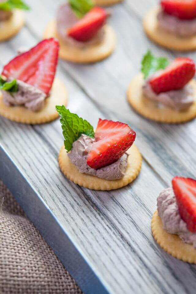 Strawberry Chocolate Mousse Bites
