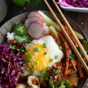 Korean Rice Bowl with Sweet Chile Soy Sauce