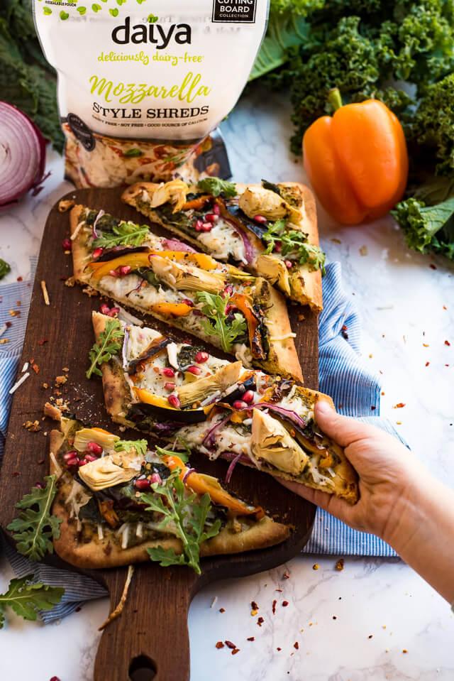 fall harvest vegan pizza