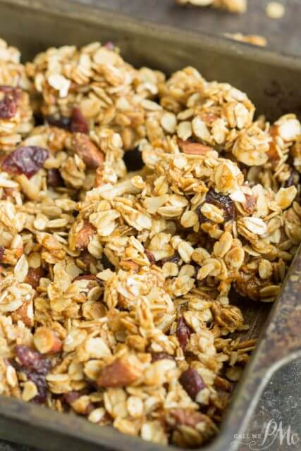Dried Cherry Almond Granola Clusters, 101 Stress Free Camping Food Ideas