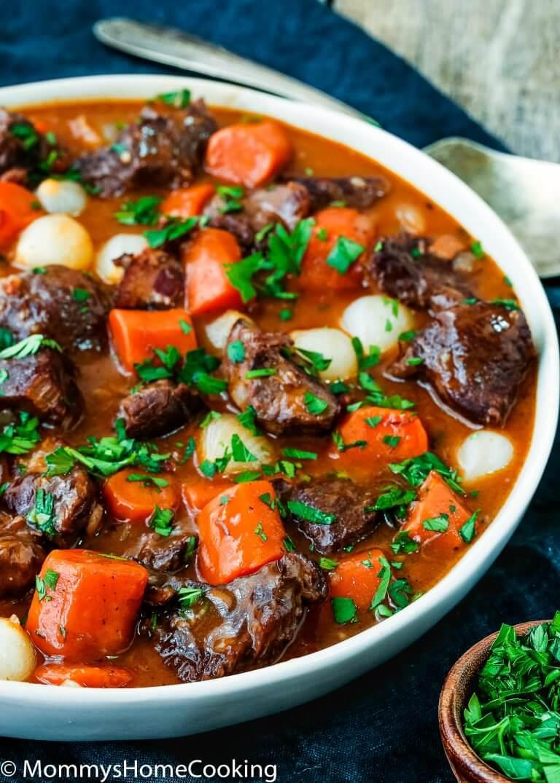 easy Instant pot beef bourguignon