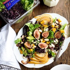 Pear Salad with Figs and Caramelized Onions