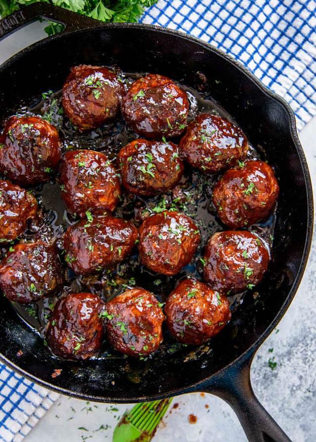 Smoked bbq meatballs, finger food ideas