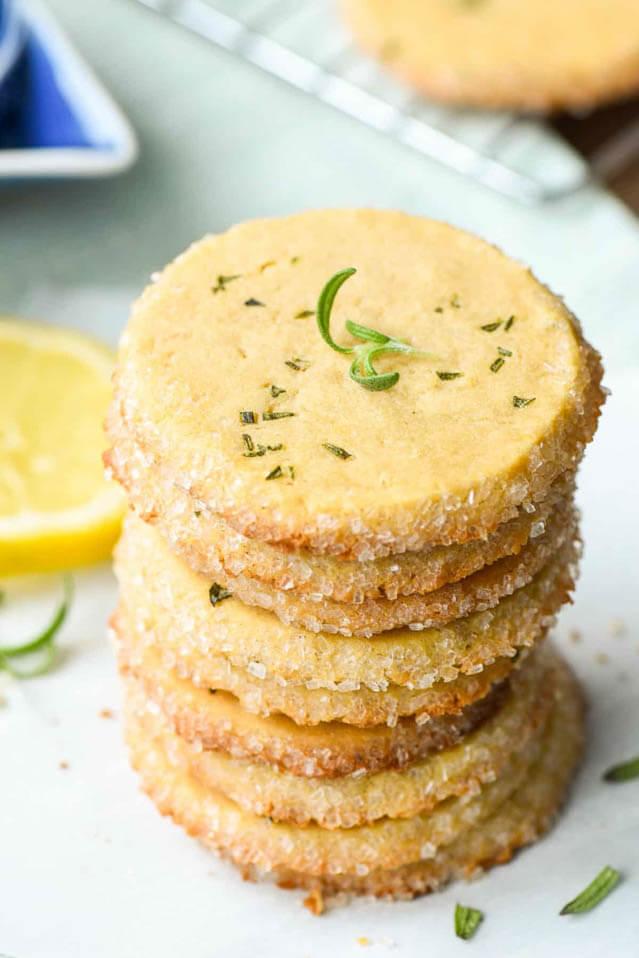 lemon rosemary butter cookies, finger food ideas
