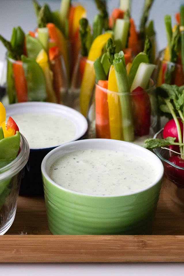 green goddess dip, finger food ideas
