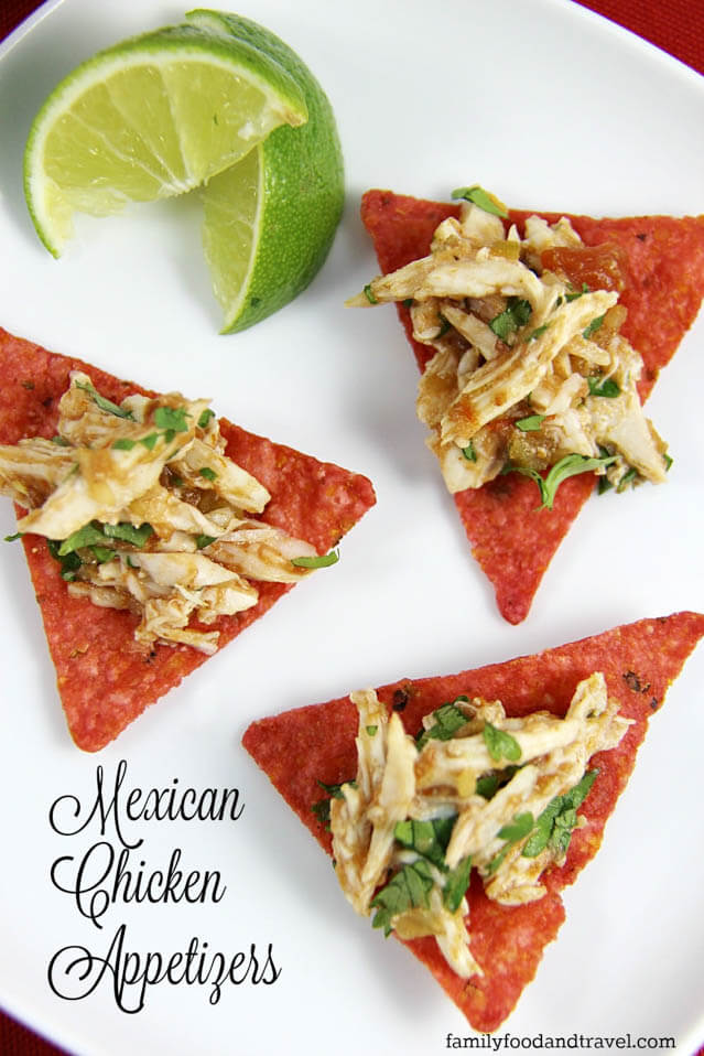 15 minute Mexican chicken appetizer, finger food ideas