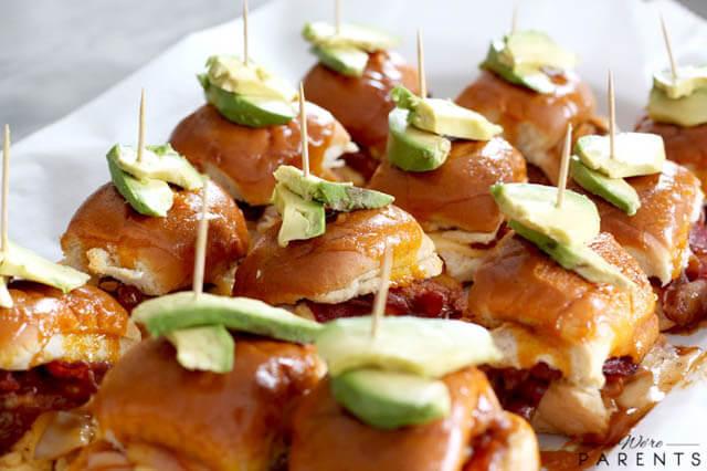 Honey Mustard BBQ Bacon Turkey Sliders, finger food ideas