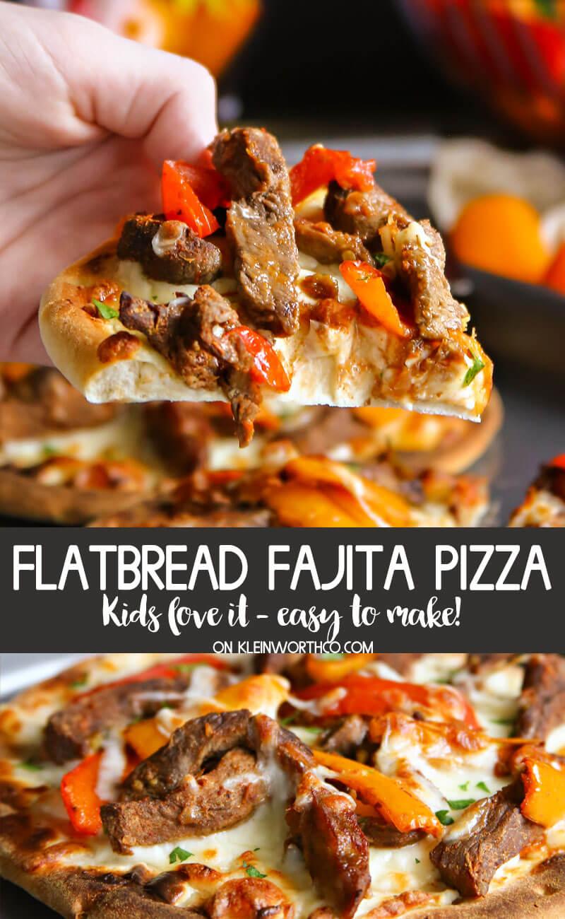 Flatbread fajita Pizza , beef dinner recipes