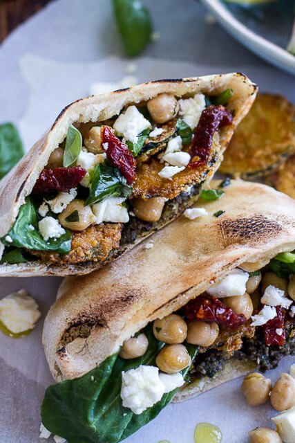 Greek-Olive-Pesto-and-Fried-Zucchini-Grilled-Pitas-w-Marinated-Feta-+-Garbanzo-Beans.-11