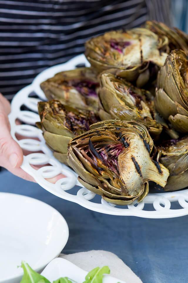 grilled artichoke pesto gnocchi