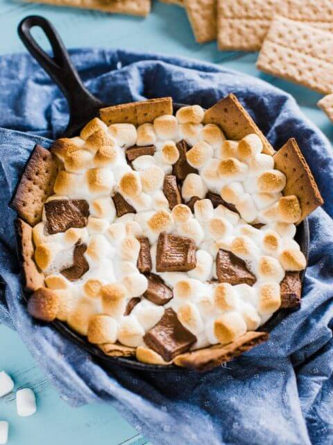 Grilled S'more Dip, 101 Stress Free Camping Food Ideas
