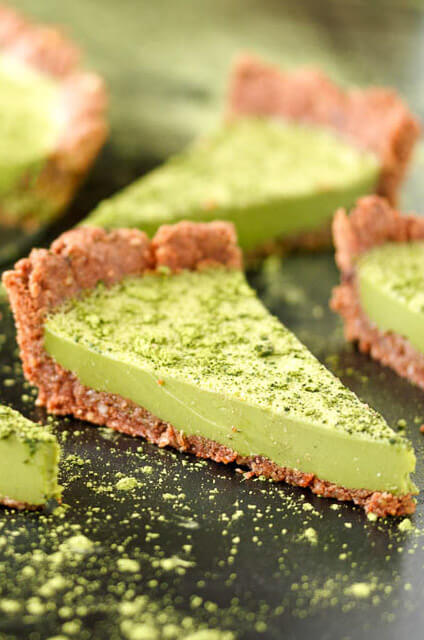 Matcha-Custard-Torte