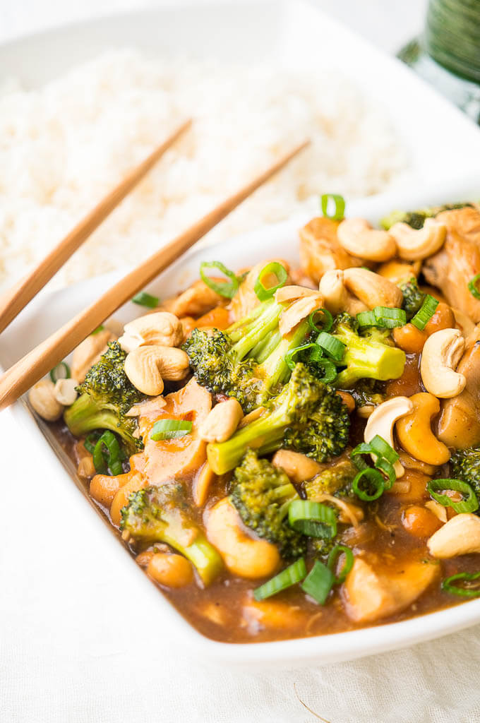 Pressure Cooker cashew chicken