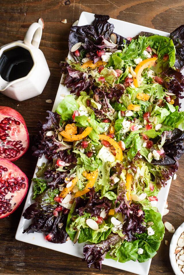 salad with pomegranates