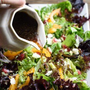 Pomegranate Salad with Balsamic Honey Dressing