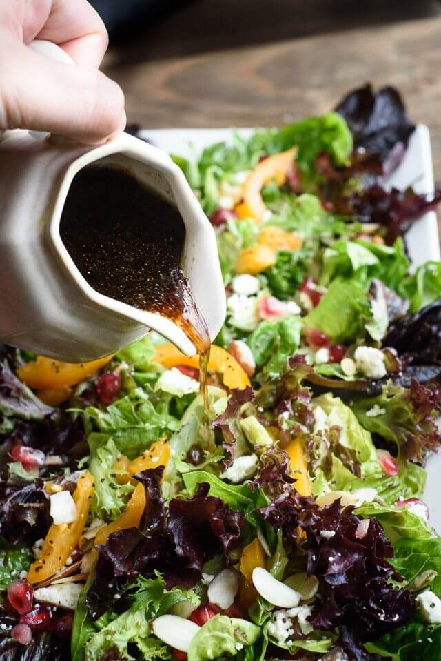 Pomegranate Salad with Balsamic Honey Dressing