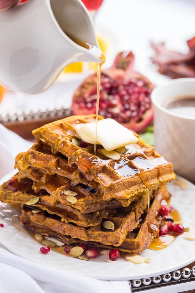 pumpkin frech toast waffles