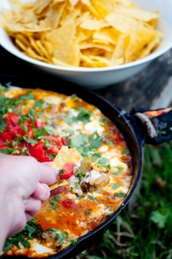 Queso Fundido, 101 Stress Free Camping Food Ideas