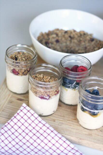 Make Ahead Yogurt Parfaits, 101 stress free camping food