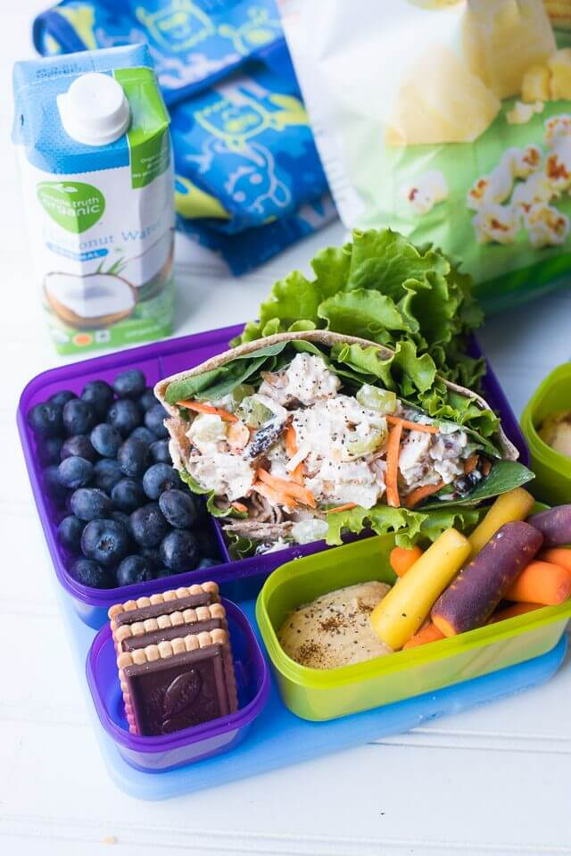 Bagged Salad Chicken Salad Pitas {Easy Healthy Lunch}
