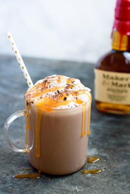 Spiked salted caramel hot chocolate, 15 COCKTAILS TO KEEP YOU WARM THIS WINTER