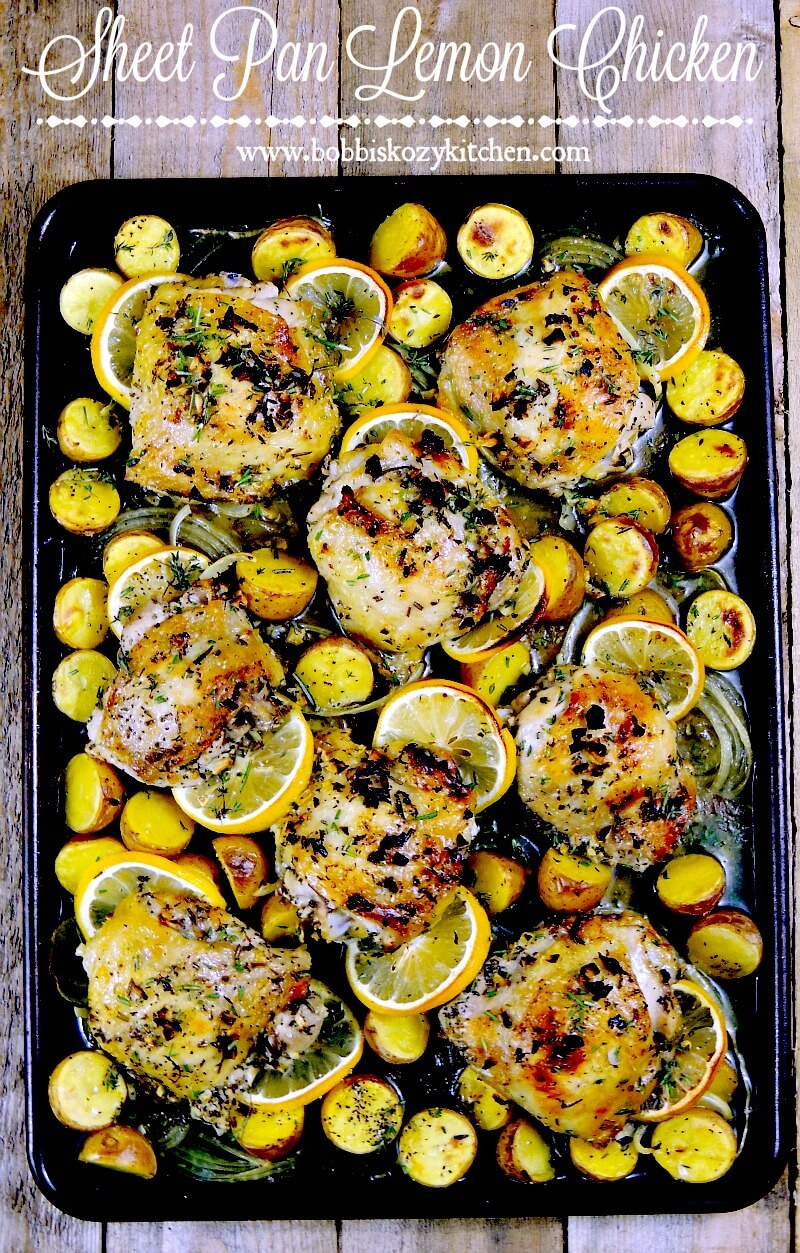 Sheet Pan Lemon Chicken