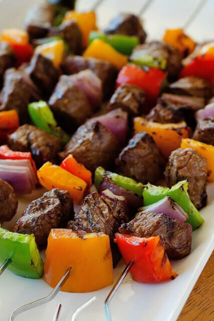 Steak-Kebabs
