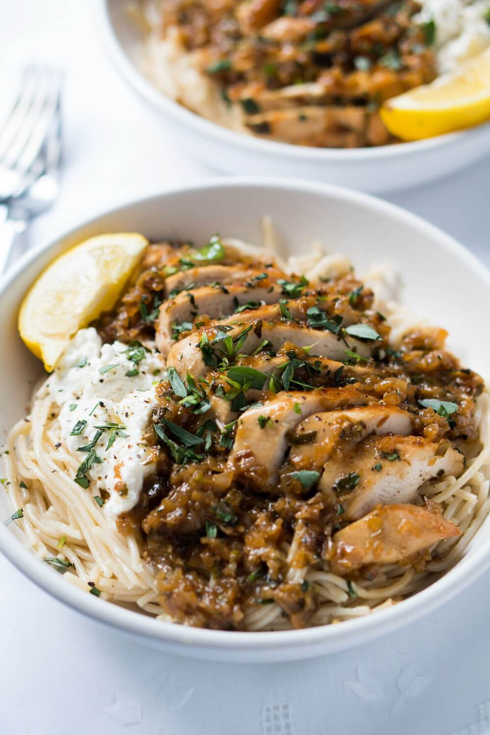 easy chicken breast recipes, chicken breast recipes, Tarragon chicken pasta