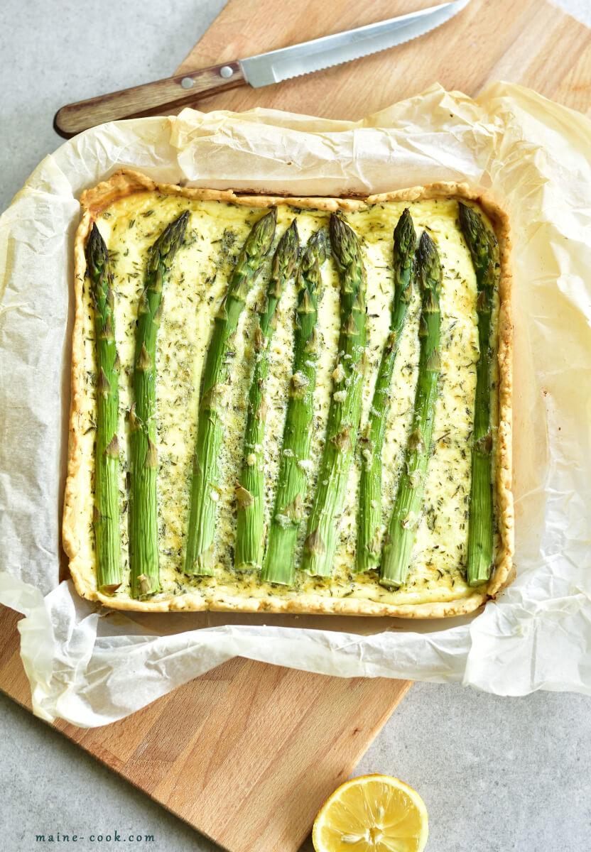 asparagus and zucchini tart