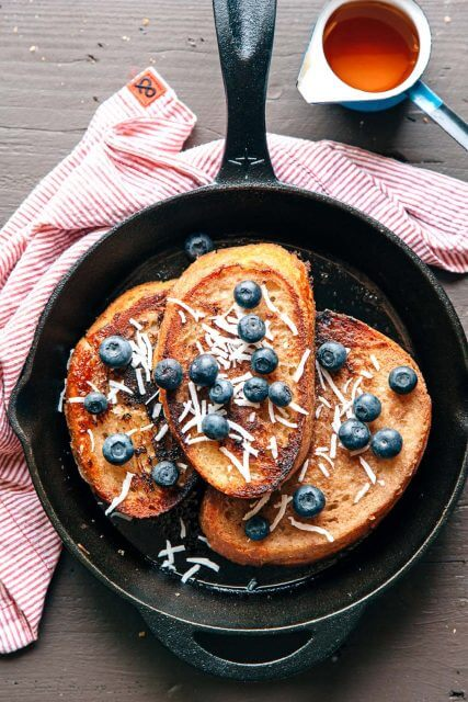 Vegan Banana Coconut French Toast, 101 stress free camping food