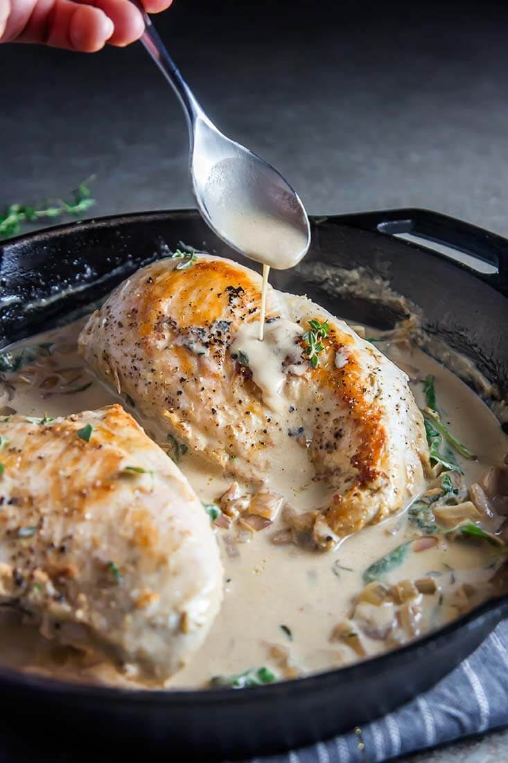 chicken breast recipes, easy chicken breast recipes, dinner, white wine cream sauce chicken breast recipe,