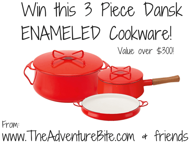 3 Piece Dansk Enameled Cookware Giveaway