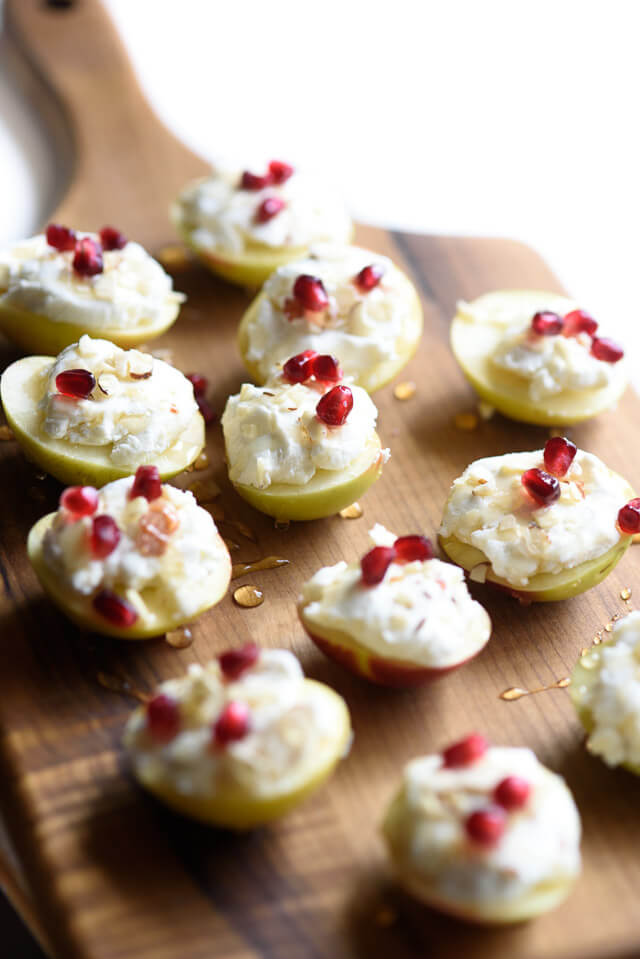 apple-cheese-bites-almonds-pomegranates